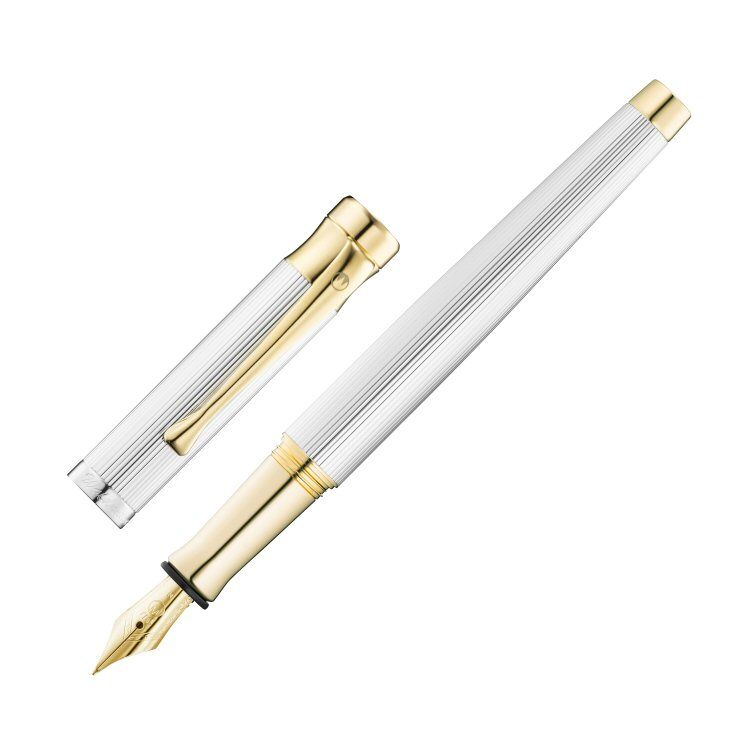 Sterling Silver Fountain Pens | Silver Pen | Silver Waldmann Fountain Pen